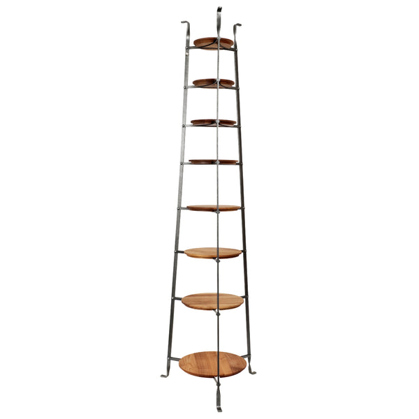 8-Tier Gourmet Cookware Stand w/ Alder Shelves