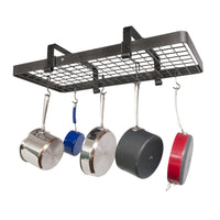 "37"" Low Ceiling Rectangle Pot Rack w/ 18 Hooks"