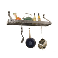 "30"" Gourmet Bookshelf Wall Rack w/ 12 Hooks"