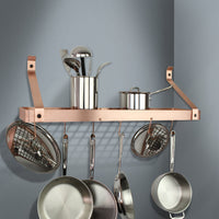 "30"" Gourmet Bookshelf Wall Rack w/ 12 Hooks - Enclume Design Products"