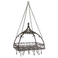 Domed Pot Rack with Hooks