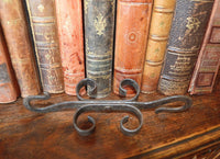 Antique French Double Ended Cast Iron Hook Hardware