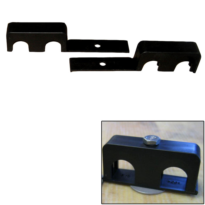 "Weld Mount Double Poly Clamp f-1-4"" x 20 Studs - 3-4"" OD - Requires 1.75"" Stud - Qty. 25 [80750] Weld Mount Payson Marine"
