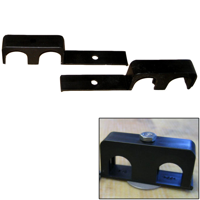 "Weld Mount Double Poly Clamp f-1-4"" x 20 Studs - 1"" OD - Requires 1.75"" Stud - Qty. 25 [801000] Weld Mount Payson Marine"