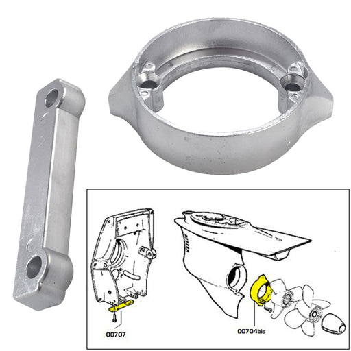 Tecnoseal Anode Kit w-Hardware - Volvo Duo-Prop 280 - Magnesium [20702MG] Tecnoseal 8059617819217 Payson Marine