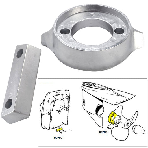 Tecnoseal Anode Kit w-Hardware - Volvo 290 - Magnesium [20705MG] Tecnoseal 8059617819231 Payson Marine