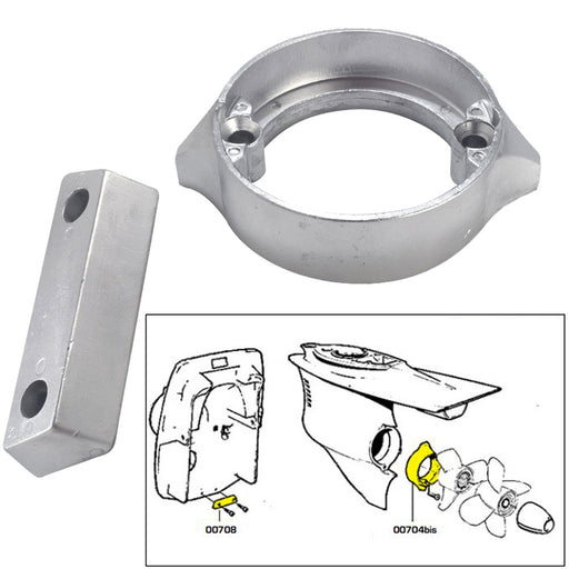 Tecnoseal Anode Kit w-Hardware - Volvo Duo-Prop 290 - Magnesium [20706MG] Tecnoseal 8059617819255 Payson Marine