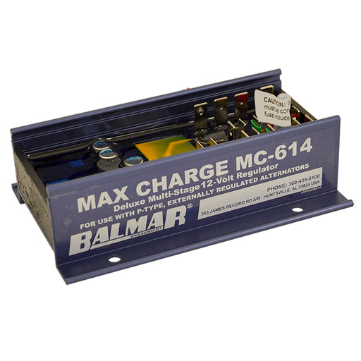 Balmar Max Charge MC-614 Multi-Stage Regulator w-o Harness - 12V [MC-614] Balmar 676205100069 Payson Marine