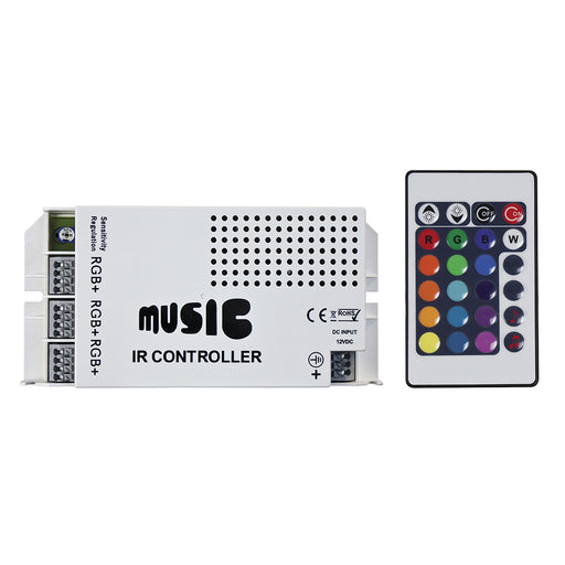 HEISE Sound Activated RGB Controller w-IR Remote [HE-RGBSAC-1] HEISE LED Lighting Systems Payson Marine