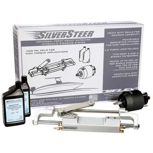Uflex SilverSteer Front Mount Outboard Hydraulic Steering System - UC130 V2 [SILVERSTEERXP2] Uflex USA Payson Marine