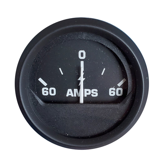 Faria Ammeter Gauge (60-0-60 Amps) - Black [12822] Faria Beede Instruments 759266128224 Payson Marine