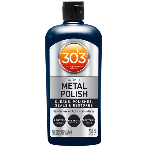 303 4-In-1 Metal Polish - 12oz *Case of 6* [30390CASE] 303 Payson Marine