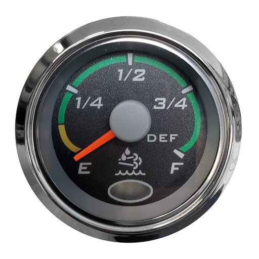 "Faria 2"" Fuel Level Gauge Euro Black w-Stainless Steel Bezel [960967] Faria Beede Instruments Payson Marine"
