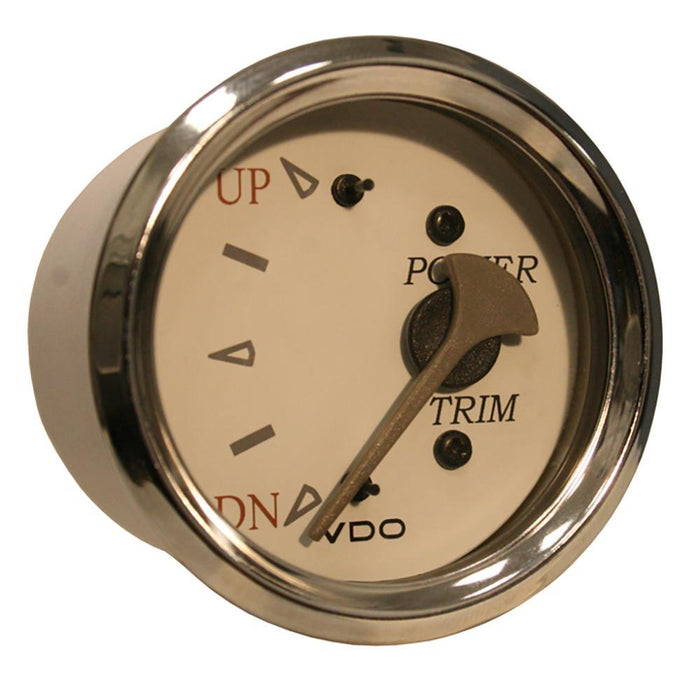 VDO Allentare White-Grey Trim Gauge - For Use w-Mercury-Volvo-Yamaha 2001+ Engines - 12V [382-13299] VDO 754059079240 Payson Marine