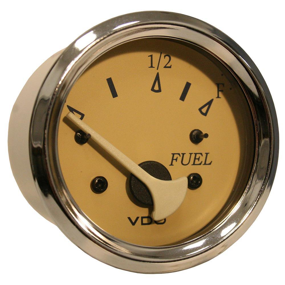 VDO Allentare Teak Fuel Level Gauge - Use w-Marine 240-33 Ohm Fuel Senders - 12V [301-12286] VDO 754059079110 Payson Marine