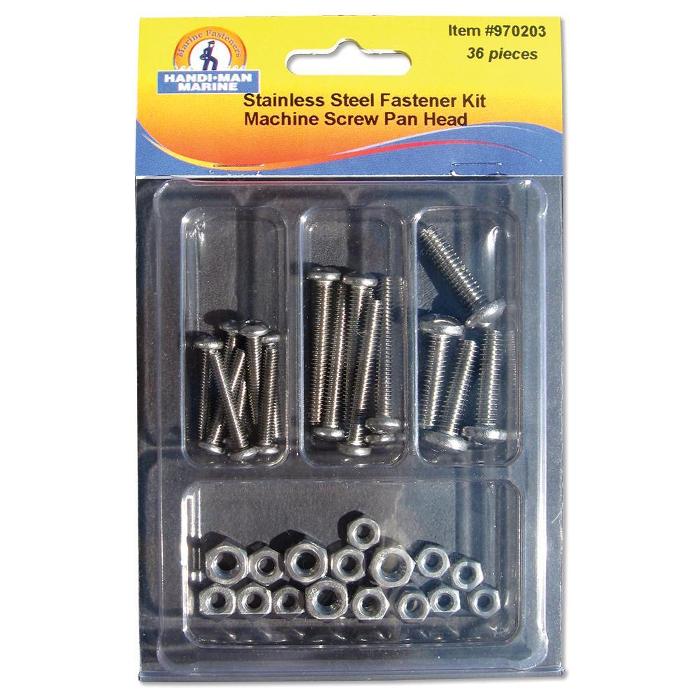 Handi-Man Phillips Pan Head Machine Screw Kit - 36 Pieces [970203] Handi-Man Marine 049996702031 Payson Marine