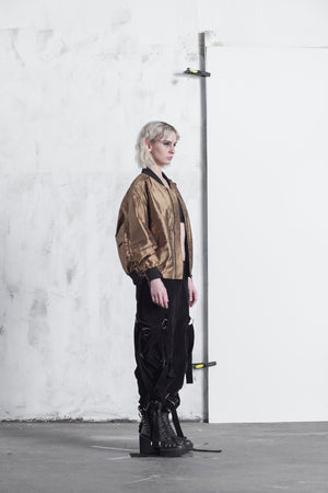 SILK COPPER UNISEX BOMBER