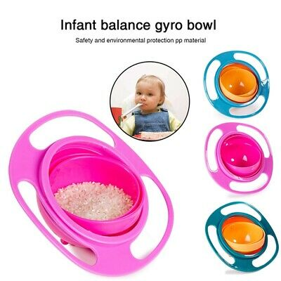 Gyroscopic Bowl Dishes Anti Spill Bowl Smooth 360 Degrees Rotation for baby