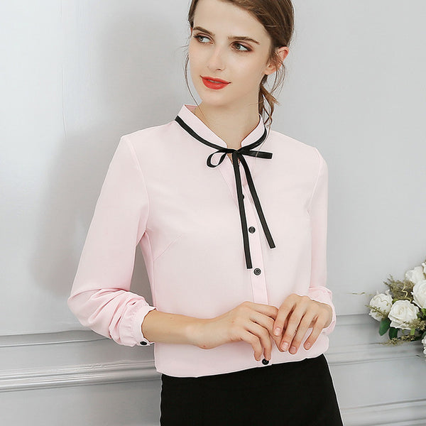 New Spring Autumn Tops Office Ladies