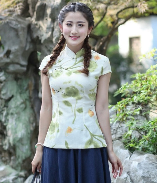 New Sale cheongsam chinese tops