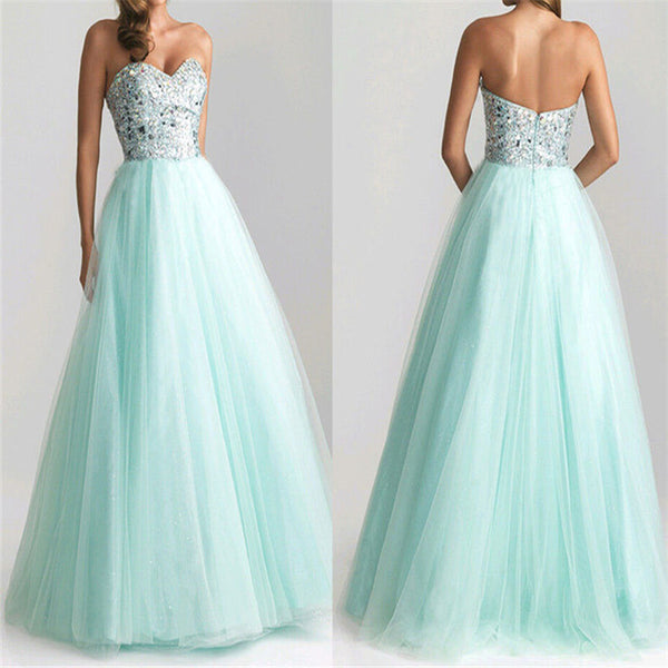 Sequined Bridesmaid Prom Gown Dress