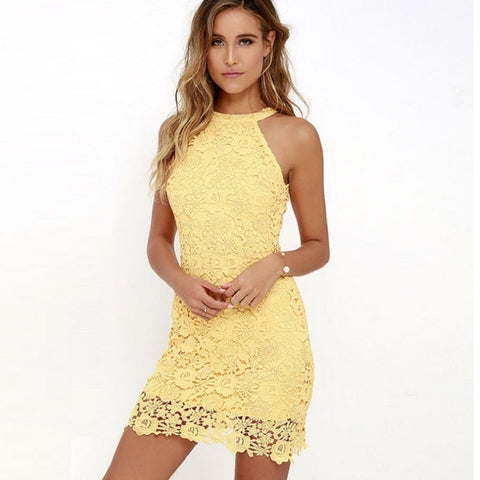 Elegant Wedding Party Sexy Club Lace Dress