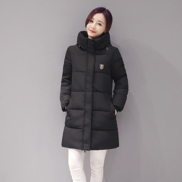 Arrival Casual Warm Long Sleeve Ladies Basic Coat