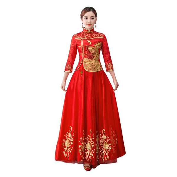 Fashion Red Traditional Chinese Clothing