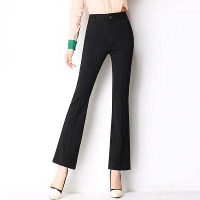 High waist Candy Colors Flared Pants