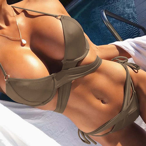 Women push up bikini set