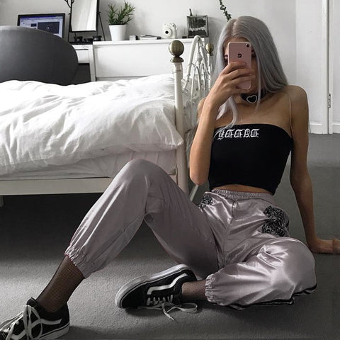 Women High Waist Tiger Pants