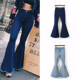 Fashion High Waist Flare Jeans