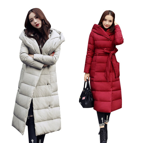 Women loose Hooded Parkas Casual Jacket