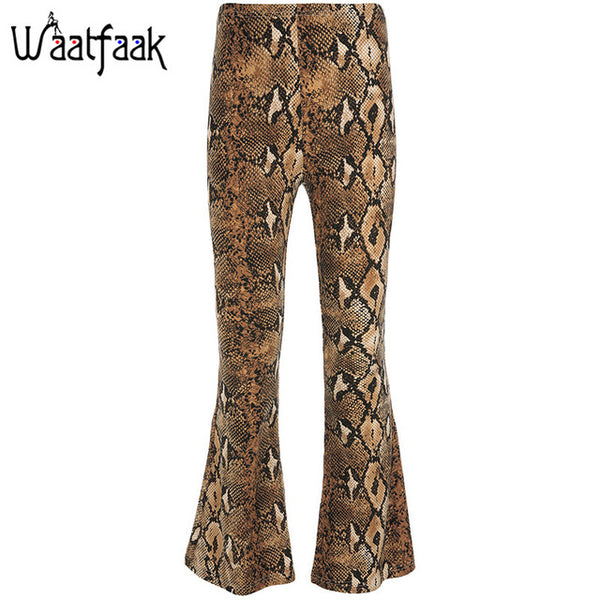 High Waist Women Flare Pants