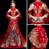 Red Traditional Chinese Wedding Dress