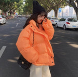 Women Cotton Padded Parkas Coat