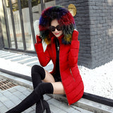 Women  Long Parka Hooded Down Jacket