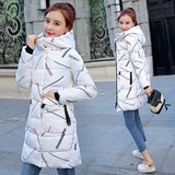 Winter Long Jacket Women Hooded