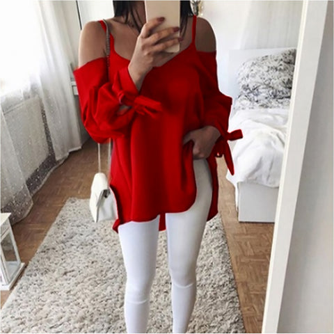 Women Shirts Blouses Casual Loose Blouse