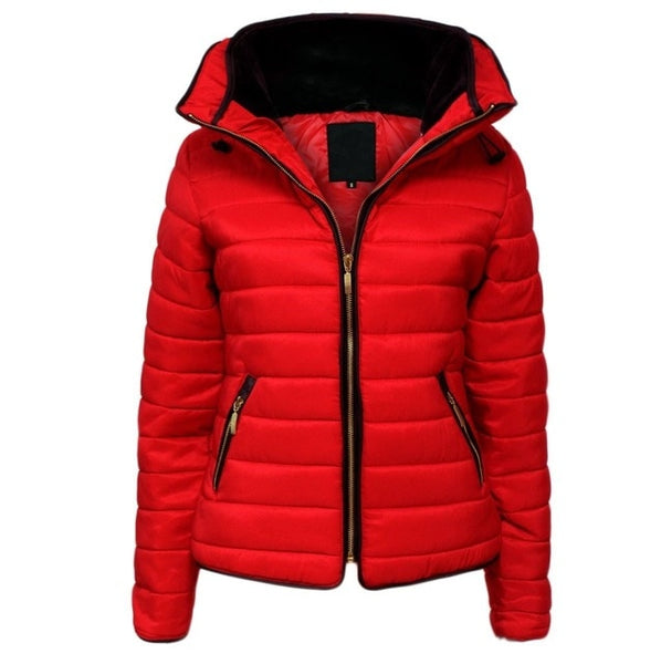 Women Brand Hooded  Causal  Coats
