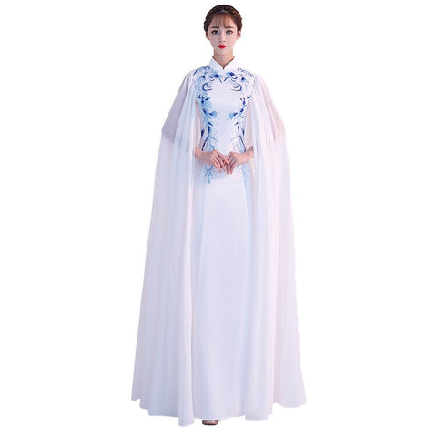 Blue White Porcelain Traditional dress