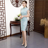 Sky Blue Chinese Traditional Dress