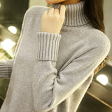 High necked sweater women's autumn wear
