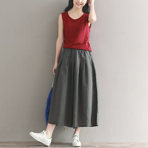 summer women wide leg pants