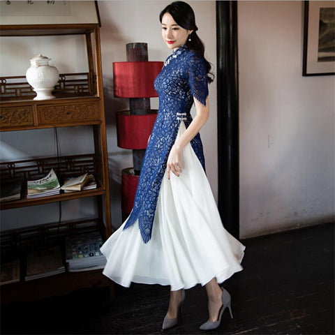 Luxury Sexy vietnam traditional  Women clothes