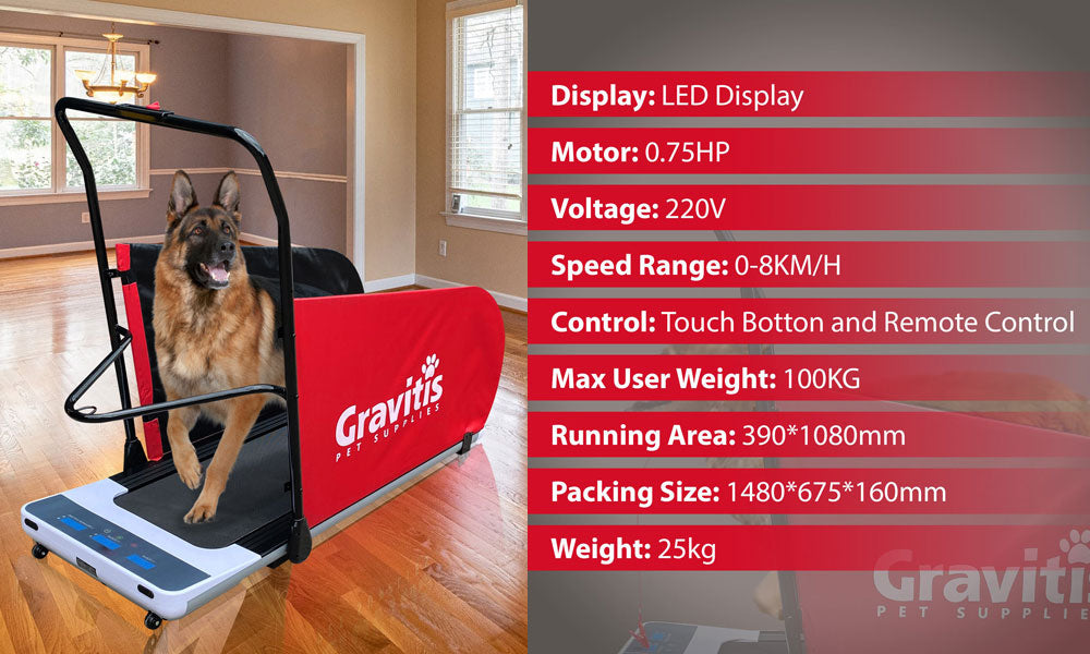 Gravitis Pet Supplies Dual Purpose Electric Treadmill For Dogs AND Humans. Dog training motorized running machine for pets and people