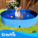 Gravitis Pet Supplies Dog Paddling Pool. Folding Rigid Panel Pet Pool