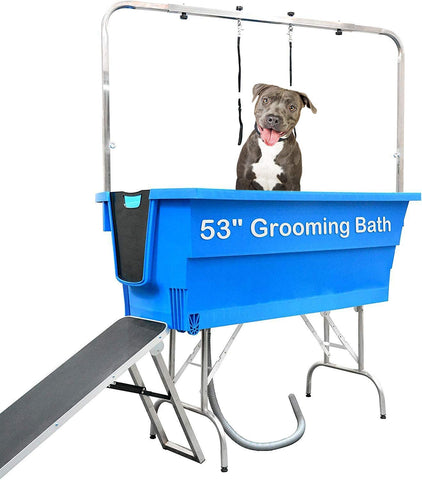 "53"" Plastic Dog Grooming Bath with Ramp"