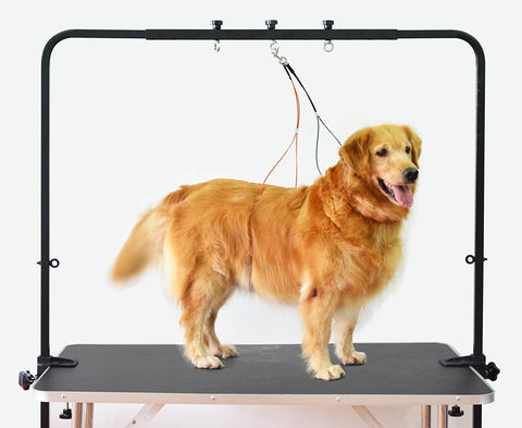 Overhead Pet Grooming Arm with Clamps and Harness – Suitable for use with most Tables