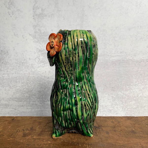 Green Woodgrain Vase 3